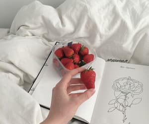 strawberry, aesthetic, and white image