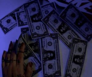 money, rihanna, and blue image