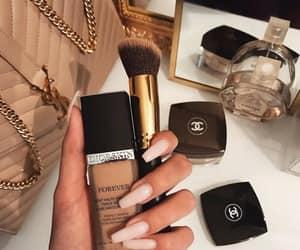 nails, makeup, and chanel image