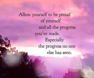 be proud, progress, and self-love image