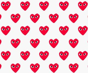 heart, hearts, and red image