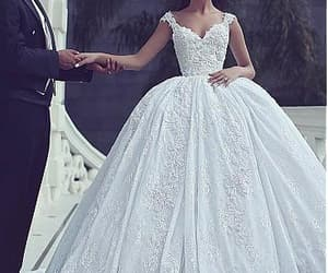 dress, mode, and wedding image