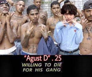 gang, yoongi, and bts meme image