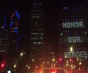 city, holiday, and lights image