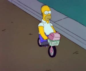 homer, the simpsons, and bike image