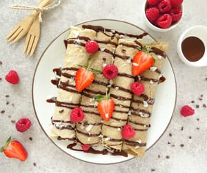 chocolate, pancakes, and crepes image