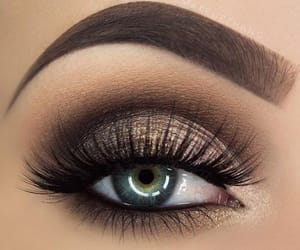 brown, makeup, and maquillage image