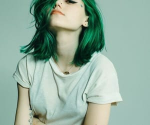 color hair, grunge, and hair cut image