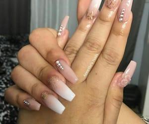 nails, unhas, and uñas image