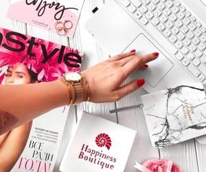 bracelets, notebook, and pink image