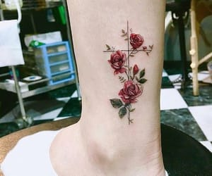 tattoo, art, and red image