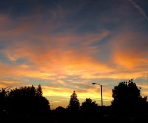 beautiful, clouds, and orange image