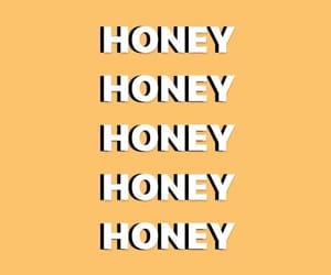 wallpaper, honey, and yellow image
