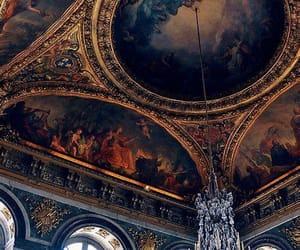 art, architecture, and chandelier image