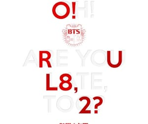 album cover, bts, and red and white image