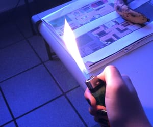 bic, blue, and fire image