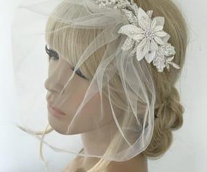 bridal veil, etsy, and beach wedding image