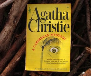 agatha christie, book, and a caribbean mystery image