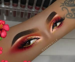 art, eyes, and makeuo image