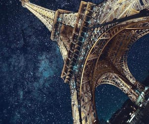 paris, stars, and night image