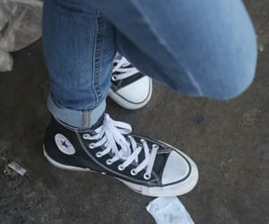 black, converse, and cool image