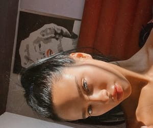 brunette, sunlight, and beauty image