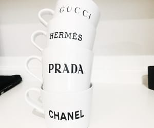 black, chanel, and coffee image