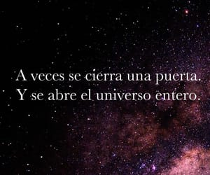 door, universo, and frases image