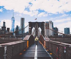 bridge, sky, and view image