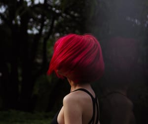 hair, photography, and red image