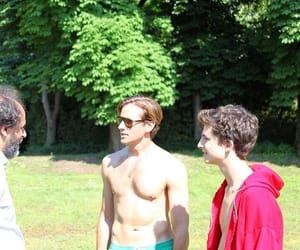 timothee chalamet, armie hammer, and call me by your name image