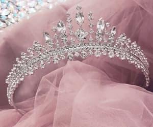 pink, crown, and princess image