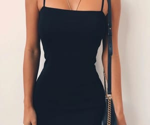 black, dress, and girl image