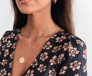 fashion, gold, and necklace image