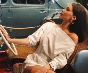 bella hadid, model, and car image