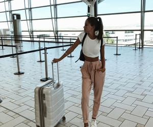 travel, girl, and outfit image