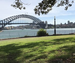 australia, bridge, and harbor image