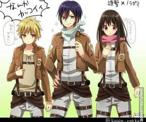 noragami, attack on titan, and anime image