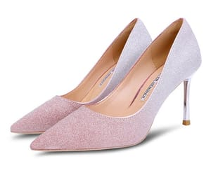 glitter, wedding shoes, and stiletto heels image