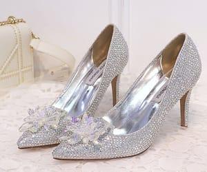 crystal, wedding shoes, and rhinestone image