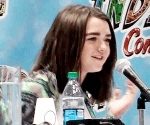joe dempsie, maisie williams, and cute image