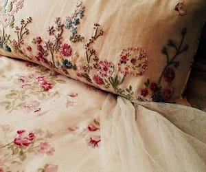 flowers, bed, and vintage image