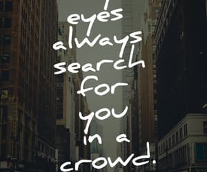 quotes, crowd, and love image