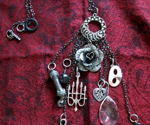 gothic, musical, and necklace image