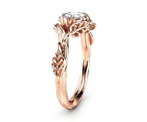 diamond ring, etsy, and branch ring image