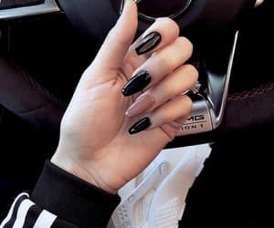 nails, black, and beauty image