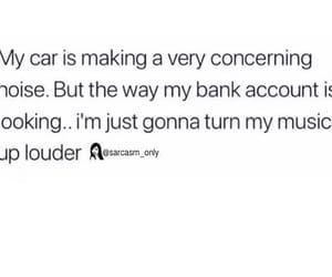 car, music, and sarcasm image