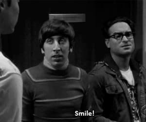 smile, sheldon, and the big bang theory image