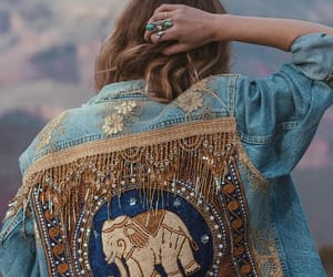 colors, denim, and elephant image