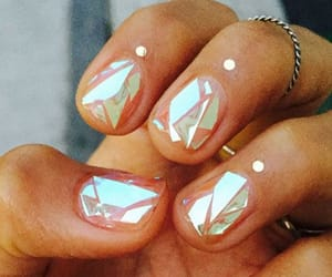 nails, nail art, and glass image